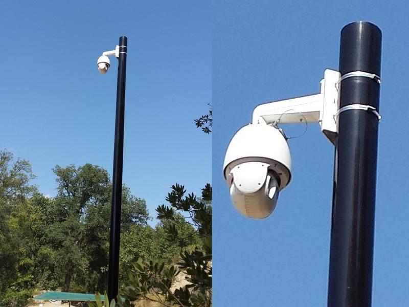 Pilier caméra ville hauteur 360 degrès