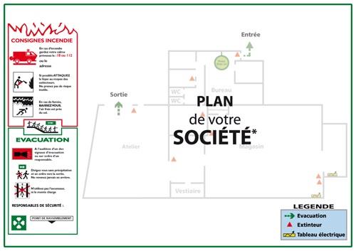 plan de société bâtiment évacuation