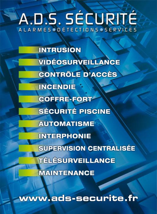 Prestations d'ADS Sécurité, spécialiste de la vidéosurveillance et de la sécurité